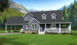 Farm Style Floor Plans Plan: 87-201