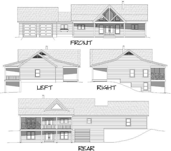 Rear Elevation Plan: 87-203