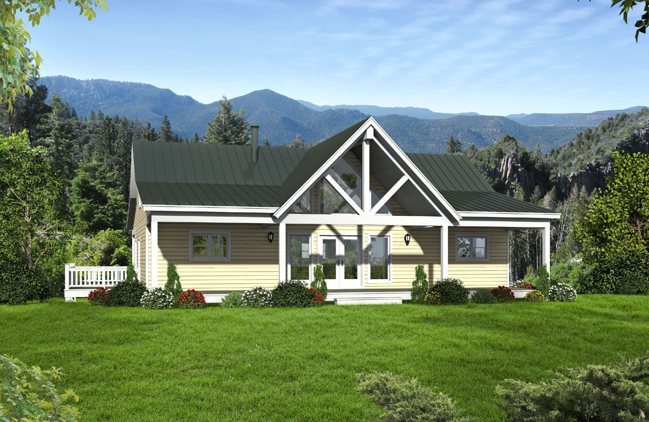 Country Style Floor Plans Plan: 87-211
