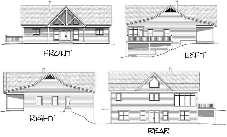 Rear Elevation Plan: 87-211