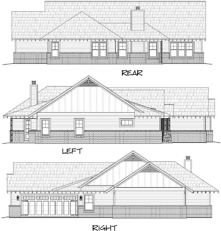 Rear Elevation Plan: 87-215