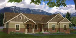 Craftsman Style Home Design Plan: 87-215