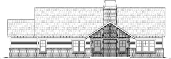 Rear Elevation Plan: 87-217