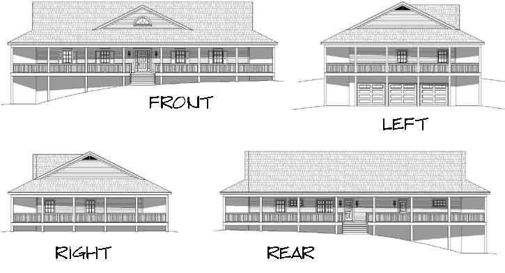 Rear Elevation Plan: 87-219