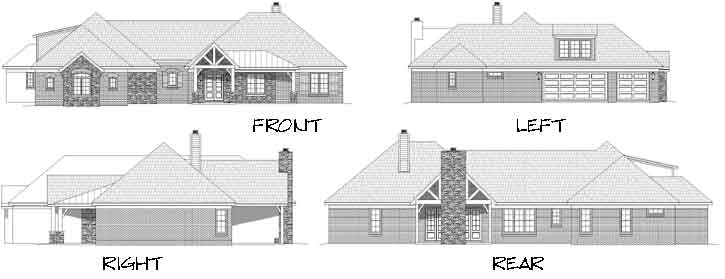 Rear Elevation Plan: 87-229