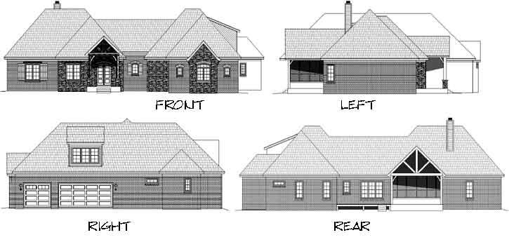 Rear Elevations Plan:87-231