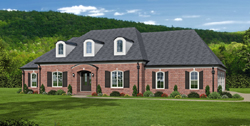 French-Country Style Home Design Plan: 87-241