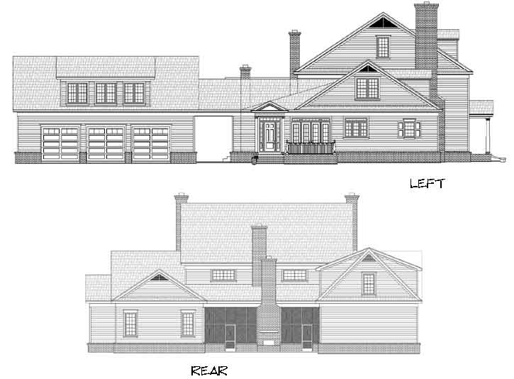 Rear Elevation Plan: 87-242