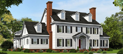 New-England-Colonial Style Floor Plans Plan: 87-242