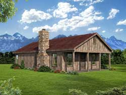 Country Style Home Design Plan: 87-245