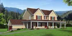 Farm Style Home Design Plan: 87-247