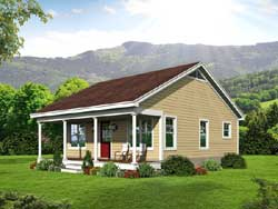 Country Style Home Design Plan: 87-248