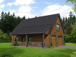 Country Style Floor Plans Plan: 87-254