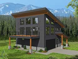 Contemporary Style House Plans Plan: 87-257