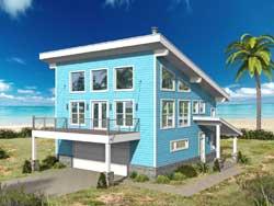 Coastal Style House Plans Plan: 87-258