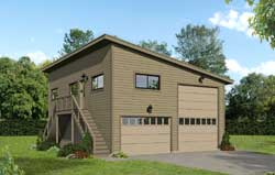 Contemporary Style House Plans Plan: 87-261