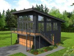 Modern Style Home Design Plan: 87-263