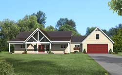 Country Style Floor Plans Plan: 87-266