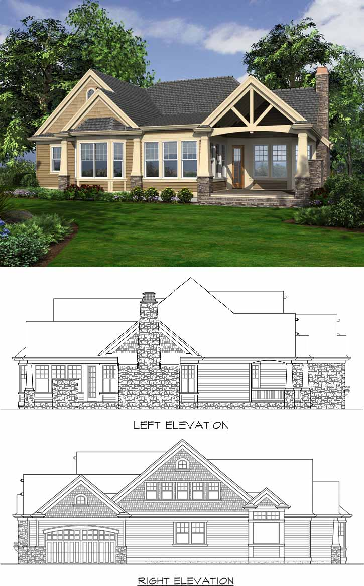 Rear Elevation Plan: 88-102