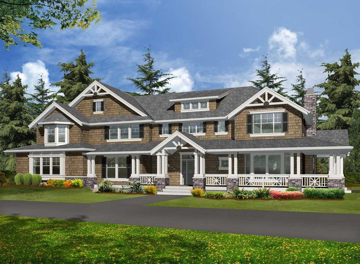 Craftsman Style Home Design Plan: 88-103