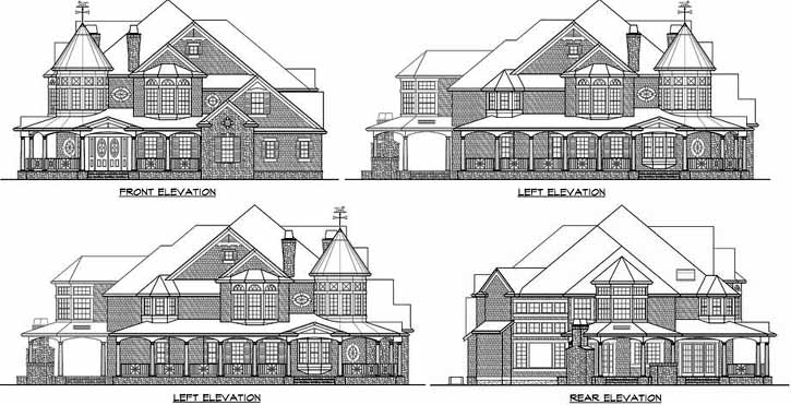Rear Elevation Plan: 88-104