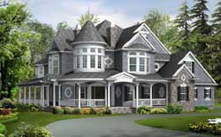 Victorian Style Floor Plans Plan: 88-104