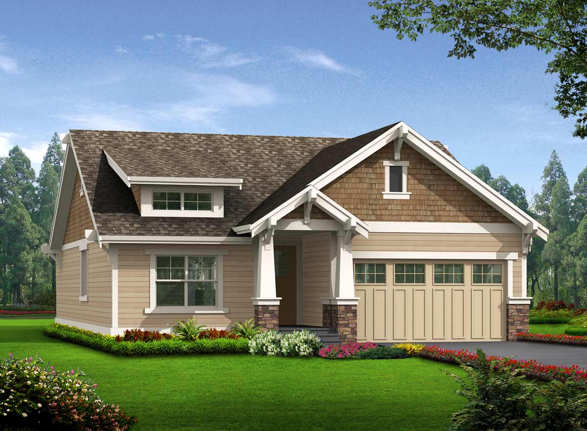 Bungalow Style Home Design Plan: 88-105