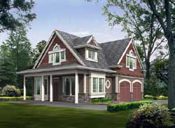 Carriage Style Home Design Plan: 88-110