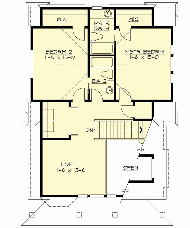 Upper/Second Floor Plan: 88-110