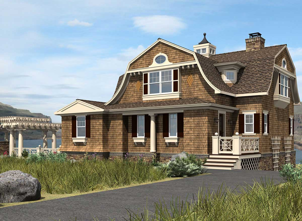 Hampton Style House Plans Plan: 88-113