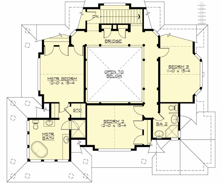 Upper/Second Floor Plan: 88-113