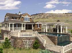 Hampton Style Home Design Plan: 88-114