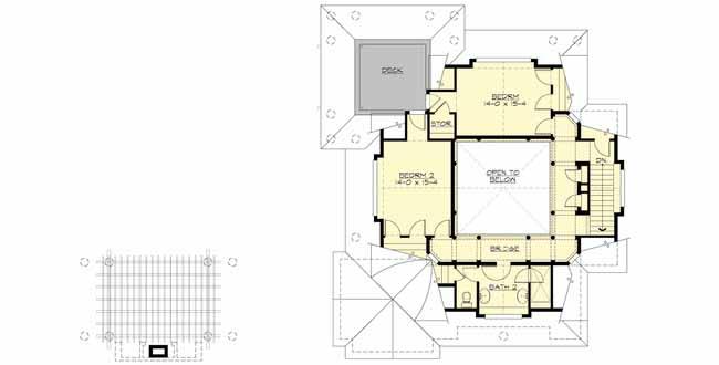 Upper/Second Floor Plan: 88-114