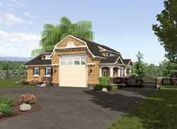 Hampton Style Home Design Plan: 88-118
