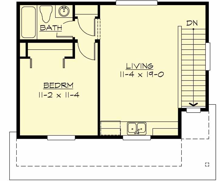 Upper/Second Floor Plan: 88-121