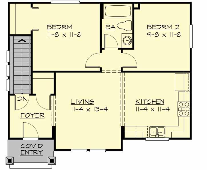 Main Floor Plan: 88-123