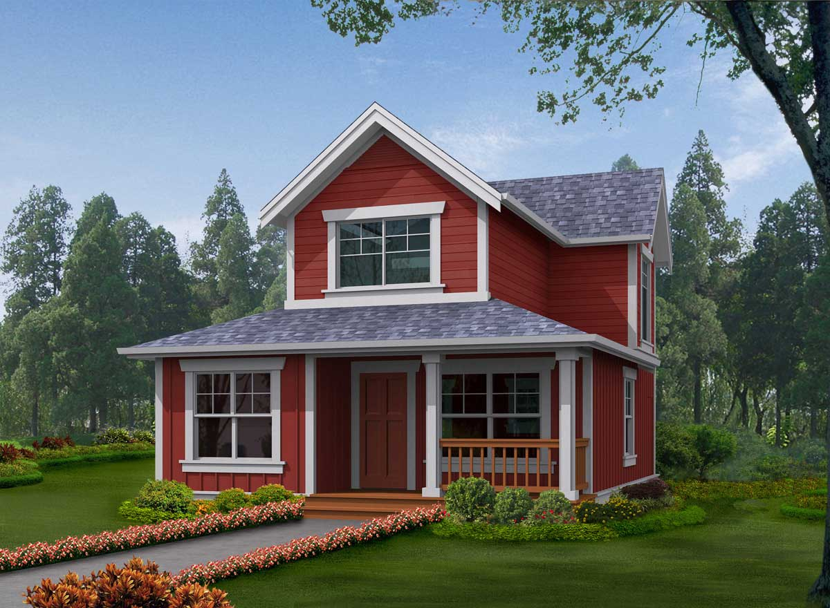 Cottage Style Floor Plans Plan: 88-133