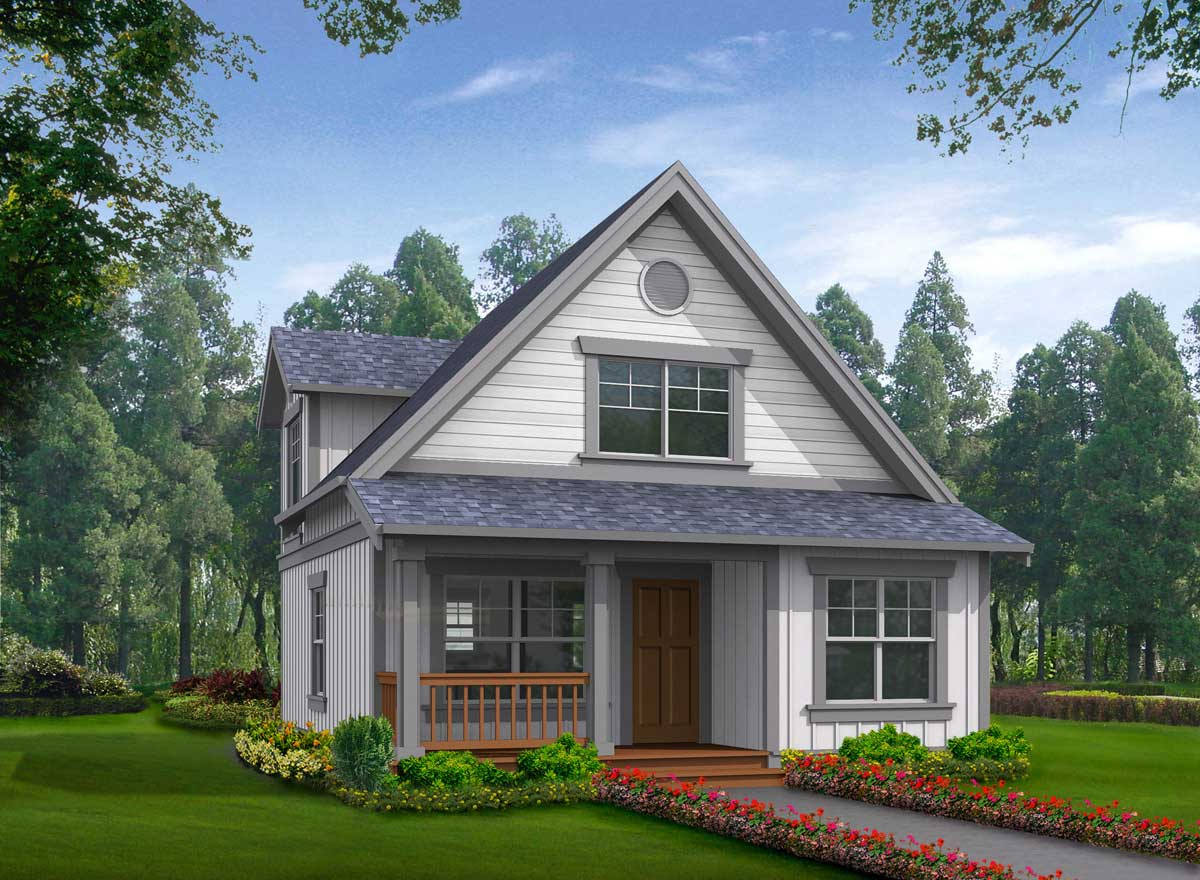 Cottage House Plan 2 Bedrooms 2 Bath 1000 Sq Ft Plan 88 135