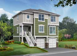 Northwest Style Home Design Plan: 88-153