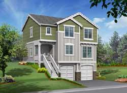 Northwest Style Home Design Plan: 88-154