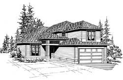 Northwest Style Home Design Plan: 88-178