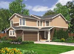 Northwest Style Home Design Plan: 88-180