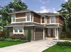 Northwest Style Home Design Plan: 88-182