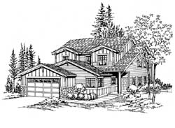 Craftsman Style Floor Plans Plan: 88-185