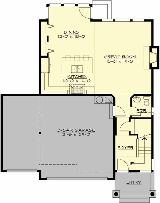 Main Floor Plan: 88-190