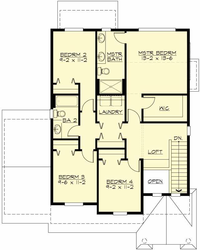 Upper/Second Floor Plan: 88-190