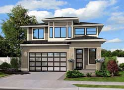 Contemporary Style Home Design Plan: 88-191