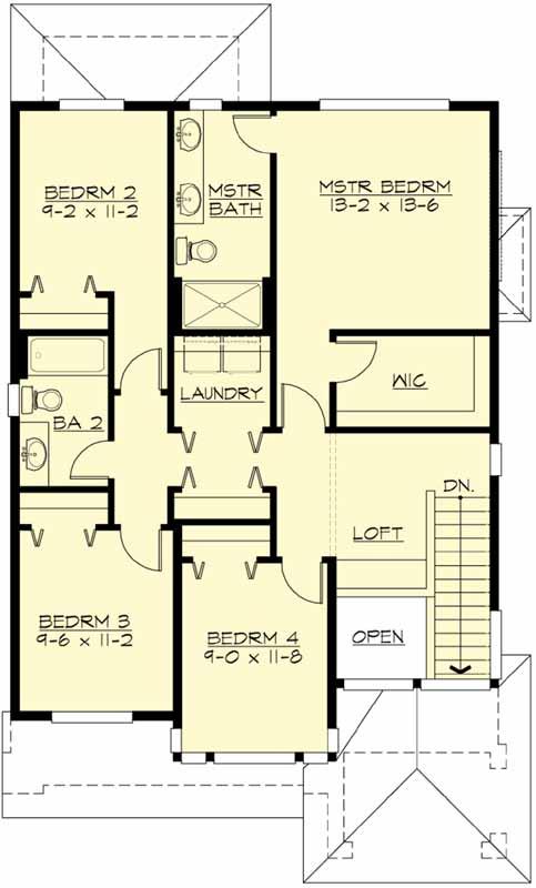 Upper/Second Floor Plan: 88-191