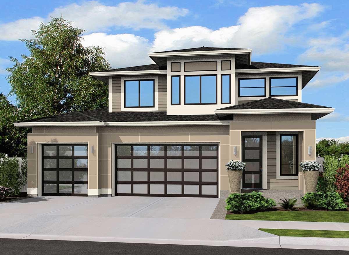 Prairie Style House Plans Plan: 88-192