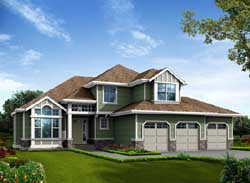 Traditional Style Home Design Plan: 88-196